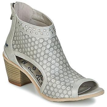 Schoenen Dames Enkellaarzen Mustang CRAIDOU Zilver