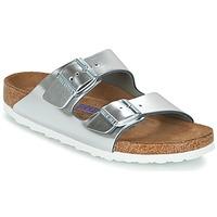 Schoenen Dames Leren slippers Birkenstock ARIZONA SFB Zilver