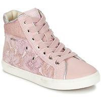 Schoenen Meisjes Hoge sneakers Geox J KIWI G. H Roze