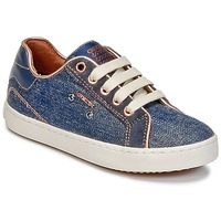 Schoenen Meisjes Hoge sneakers Geox J KIWI G. B Denim
