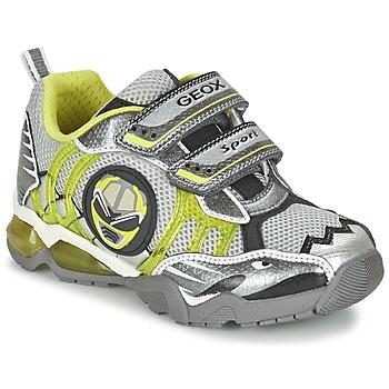 Schoenen Jongens Lage sneakers Geox J SHUTTLE B. B Grijs / Citron