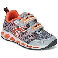 Schoenen Jongens Lage sneakers Geox J SHUTTLE B.A Grijs / Oranje