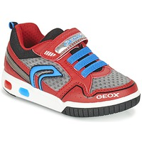 Schoenen Jongens Lage sneakers Geox J GREGG B Rood / Blauw