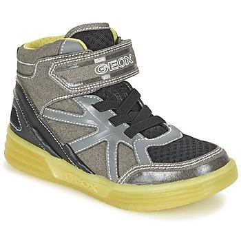 Schoenen Jongens Hoge sneakers Geox J ARGONAT B. B Grijs / Citron