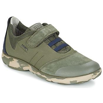 Schoenen Kinderen Lage sneakers Geox J NEBULA B. A MILITARY / Marine