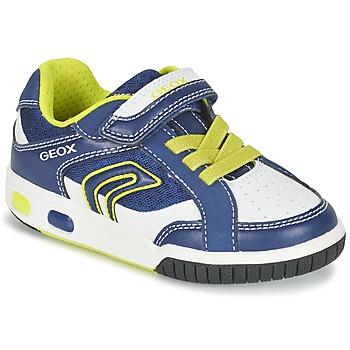 Schoenen Jongens Lage sneakers Geox J GREGG A Blauw / Citron