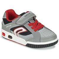 Schoenen Jongens Lage sneakers Geox J GREGG A Grijs / Rood