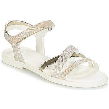 Schoenen Meisjes Sandalen / Open schoenen Geox J S.KARLY G.D Beige / Goud