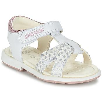 Schoenen Meisjes Sandalen / Open schoenen Geox B SAN.VERRED D Wit