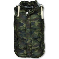 Textiel Heren Vesten / Cardigans Yole Bodywarmer Heren - Camouflage Vest Capuchon Groen