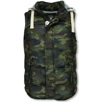 Textiel Heren Vesten / Cardigans Yole Bodywarmer Heren - Camouflage Vest Capuchon