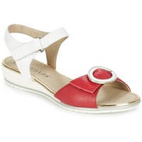 Schoenen Dames Sandalen / Open schoenen Pitillos MERVA Wit / Rood