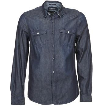 Textiel Heren Overhemden lange mouwen Energie VETTEL Blauw