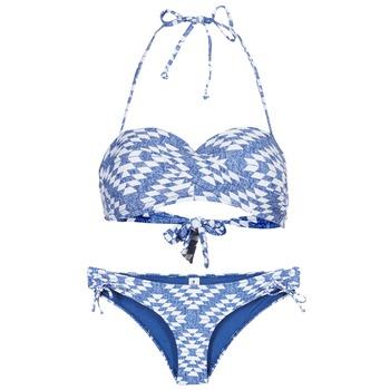 Textiel Dames Bikini Rip Curl DEL SOL BANDEAU SET Blauw / Wit