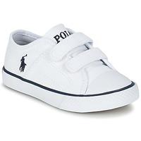 Schoenen Kinderen Lage sneakers Ralph Lauren DYLAND EZ Wit