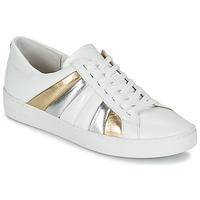 Schoenen Dames Lage sneakers MICHAEL Michael Kors CONRAD SNEAKER Wit / Goud / Zilver