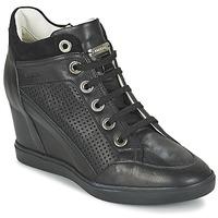 Schoenen Dames Hoge sneakers Geox ELENI C Zwart