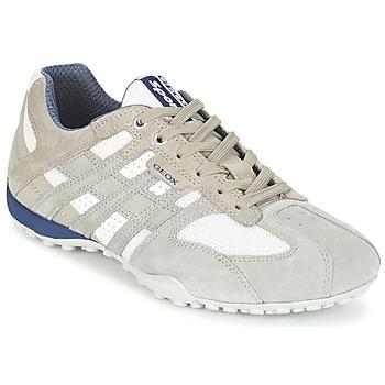 Schoenen Heren Lage sneakers Geox SNAKE Grijs / Wit