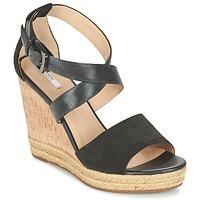 Schoenen Dames Sandalen / Open schoenen Geox D JANIRA E Zwart