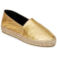 Schoenen Dames Espadrilles Kenzo TIGER METALIC SYNTHETIC LEATHER Goud