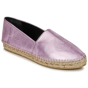 Schoenen Dames Espadrilles Kenzo TIGER METALIC SYNTHETIC LEATHER Roze
