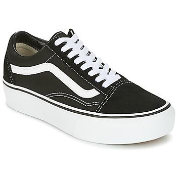 Schoenen Dames Lage sneakers Vans UA OLD SKOOL PLATFOR Zwart / Wit