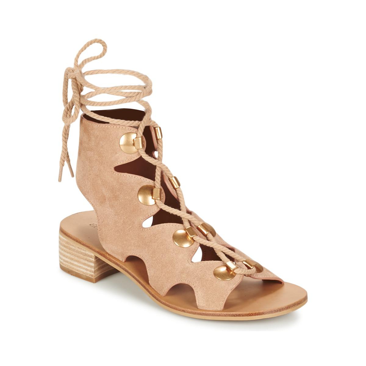 see by chlo sb28231 beige gratis levering bij schoenen sandalen dames 335 00. Black Bedroom Furniture Sets. Home Design Ideas