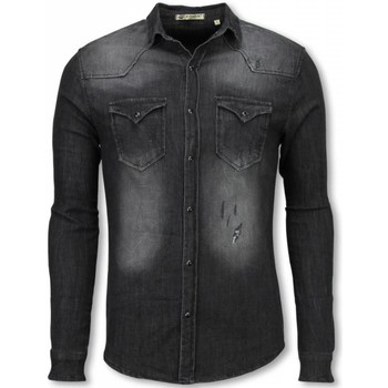 Enos Denim Overhemd - Slim Fit..