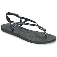 Schoenen Dames Teenslippers Havaianas LUNA Zwart