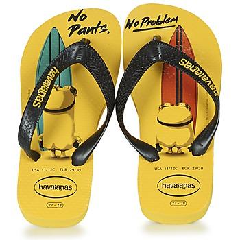 Schoenen Kinderen Teenslippers Havaianas KIDS MINIONS Geel / Zwart