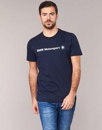 Textiel Heren T-shirts korte mouwen Puma BMW MSP LOGO TEE Marine