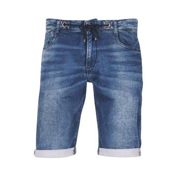 Textiel Heren Korte broeken / Bermuda's Le Temps des Cerises JOGG SHORT Blauw / Medium