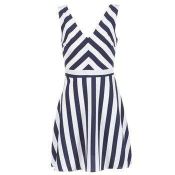 Textiel Dames Korte jurken Molly Bracken TRODAK Marine / Wit