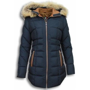 Textiel Dames Dons gevoerde jassen Milan Ferronetti Winterjassen - Dames Winterjas Lang - Gestikt - Country Edition 19