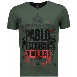 Textiel Heren T-shirts korte mouwen Local Fanatic Pablo Escobar Boss - Rhinestone T-shirt 25