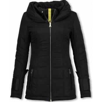 Textiel Dames Dons gevoerde jassen Milan Ferronetti Winterjassen - Dames Winterjas Halflang - Regular Slim - Fit Edi 38
