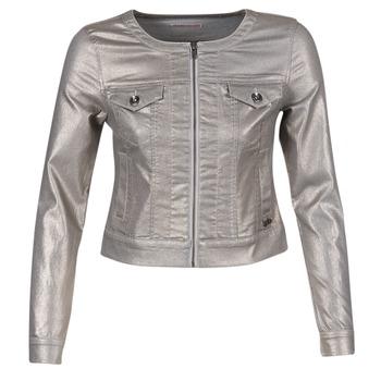 Textiel Dames Spijker jassen LPB Woman OMILATE Zilver