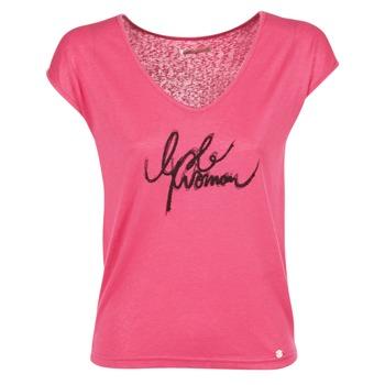 Textiel Dames T-shirts korte mouwen Les P'tites Bombes CHOUBERNE Roze