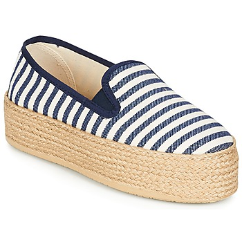 Schoenen Dames Espadrilles Betty London GROMY Marine / Wit