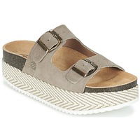 Schoenen Dames Leren slippers Betty London GRANJY Taupe