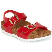 Schoenen Kinderen Sandalen / Open schoenen Birkenstock RIO Rood