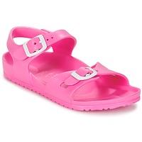 Schoenen Kinderen Sandalen / Open schoenen Birkenstock RIO EVA Roze / Fluo