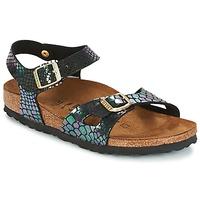 Schoenen Kinderen Sandalen / Open schoenen Birkenstock RIO Zwart / Brillant / Slang