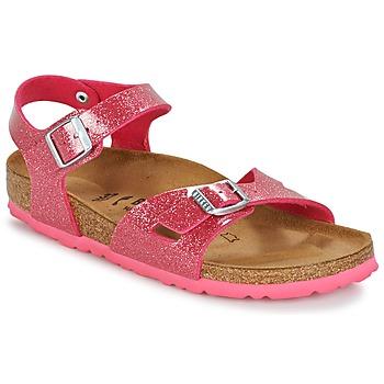Schoenen Kinderen Sandalen / Open schoenen Birkenstock RIO Roze / Pailletten