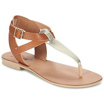 Schoenen Dames Sandalen / Open schoenen Betty London VITAMO Camel / Goud