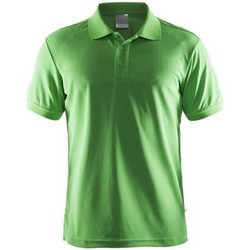 Textiel Heren T-shirts korte mouwen Craft Shirt Pique Classic Groen
