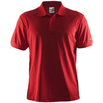 Textiel Heren T-shirts korte mouwen Craft Shirt Pique Classic Rood