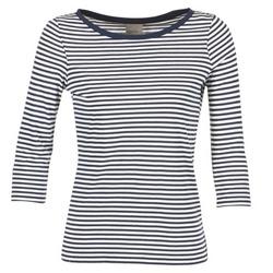 Textiel Dames T-shirts met lange mouwen Vero Moda MARLEY Marine / Wit