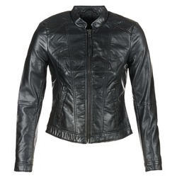 Textiel Dames Leren jas / kunstleren jas Vero Moda QUEEN Zwart