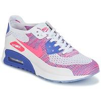 Schoenen Dames Lage sneakers Nike AIR MAX 90 FLYKNIT ULTRA 2.0 W Wit / Blauw / Roze